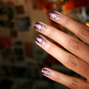 Ombre Crackle Nails