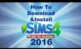 UPDATED! TS4 Get To School 2016 How To Download And Install
