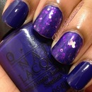 OPI...Eurso Euro with Daring Digits Butterflies Make Me Lupie