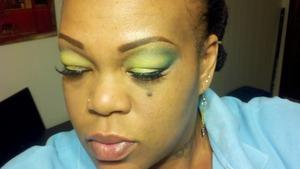 Oshun eye shadow ..inspires by the orisa!