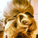 Curled Messy Bun...by Calista Brides Hair & Makeup Artistry