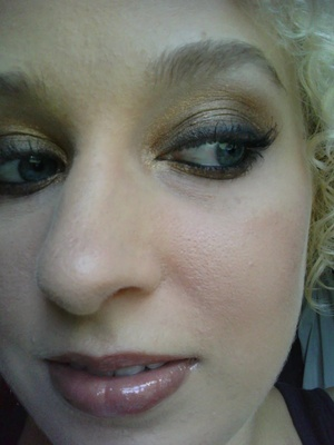 Golden-bronze look created with the NAKED palette