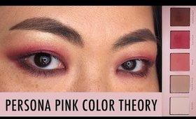 PERSONA PINK COLOR THEORY EYE KIT LOOK ON MONOLID EYES I Futilities And More