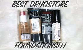 BEST DRUGSTORE FOUNDATIONS!! (TOP 5)