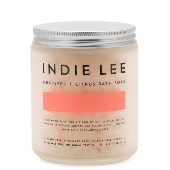 Indie Lee Bath Soak Grapefruit Citrus product smear.