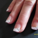 White tip with gems