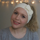 DIY crochet bow headband!