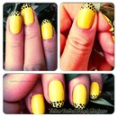 Yellow Dotted French Manicure