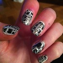 monochrome glitter crackle