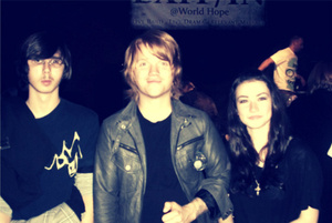 My close friend, and Aaron Gillespie. Very inspirational night.