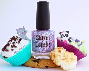 """The name of this glitter topper nail polish is called """"Kawaii Bake Sale""""."""