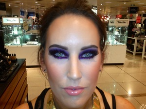 Purple glitter on my beautiful friend