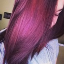 Burgundy meets Auburn hair