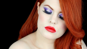 Realistic Jessica Rabbit make up tutorial.