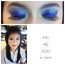 Blue Coral Eye Make Up ♥