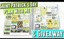 Erin Condren St Pattys Day PWM Weekly Spread, Erin Condren St Pattys Day Plan With Me Weekly Spread