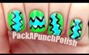 Easy Neon Zig Zag Nail Art Tutorial
