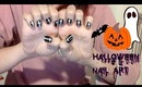 (Easy) Halloween Nail Art Tutorial - Cross Nails / (Fácil) Arte de uñas para Halloween - Cruces