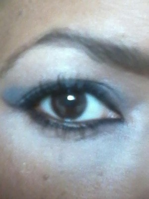 I created this look to wear it any time of the day, quick and easy technique. Start  with the primer, even base over lid. Use the darkest shade over the entire eyelid up to the crease and along lash line lines. Use the lightest shade along brow bone and inner corner  with the black shade. apply the kohl Eye Liner along top and bottom lash lines, then smudge with an eye liner brush. Finish with mascara.
