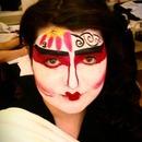 Geisha Face Painting :)