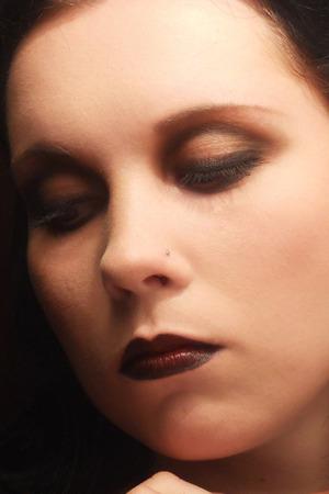 Dark retro make-up. Model: Killerrabbit.