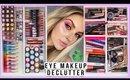HUGE makeup declutter ♻️ eyeliners, mascaras, brows, liquid eyeshadows & more!