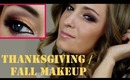 Fall / Thanksgiving Makeup Tutorial: Spicy Cranberry / Осенний макияж