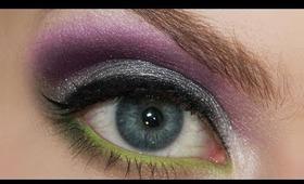 Flower Inspired Summer Makeup Series - Irises: Purple cut crease & colored waterline tutorial