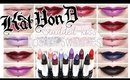 Lip Swatches: Kat Von D Studded Kiss Lipsticks | Application Tips!
