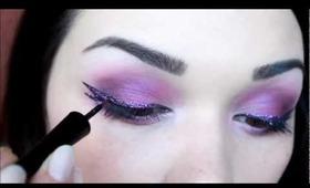 Purple shower make up tutorial