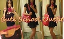 Cute and Simple School Outift Of The Day 简单可爱学生服饰时尚