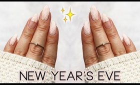 Last Minute New Year's Eve Nail Art 2018 🥂🎉