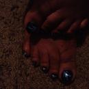 midnight blue flower nail