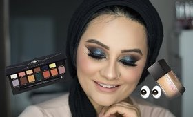 Halo Green Smokey Eye feat. Anastasia Beverly Hills Prism Palette, Huda Beauty Foundation