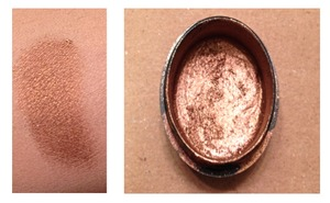 This was a really fun product to make. I wanted a smoother consistency so I broke a cheap drugstore pressed foundation and combined it with loose orange-toned gold pigment from Shany Cosmetics. The result is a beautiful creamy amber gold shadow that glide on smoothly and blends out gorgeously.  I Used: 95% Rubbing Alcohol Broken and old drugstore quads and shadows Loose Shany Cosmetics Pigments