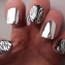 zebra nails. love em