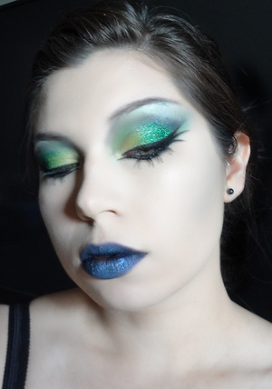 Glamorous witch look featuring pigments from Dark Heart Designs.