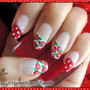 Roses, Polka Dots, Lace Nails