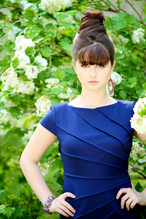 Makeup was very simple. Wanted to look like Audrey Hepburn.