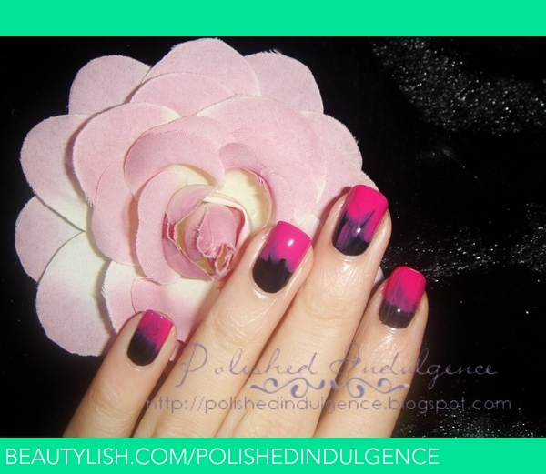 Pink And Black Ombre Nails Inspired By The Nails From Jen