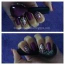 Purple & Sparkle Nail Polish