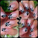 Quick Black and White Nail Art | Monochrome French