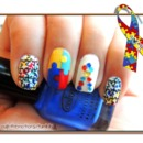 Autism Awareness Nails