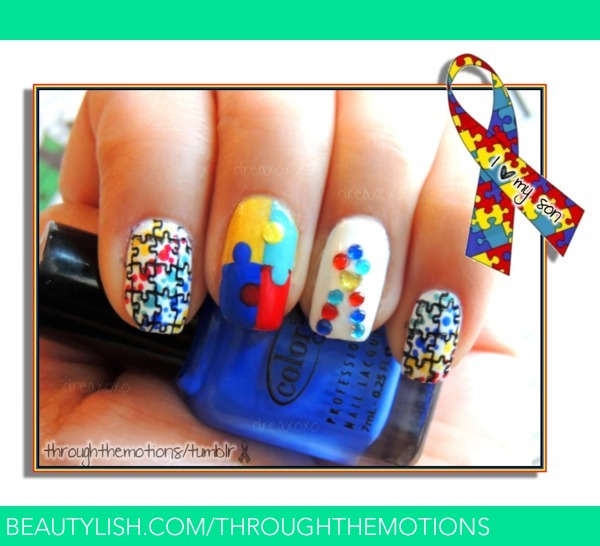 Autism awareness nails through the motion ss autism awareness nails through the motion ss throughthemotions photo beautylish prinsesfo Images