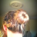 Messy Ballerina Bun With Plait x