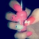my first diy acrylic nails!!!