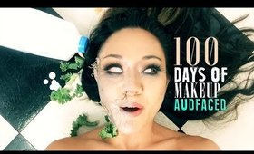 100 DAYS OF MAKEUP | AUDFACED