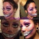 Cheshire Alice in wonderland makeup