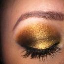 bronze shimmer look