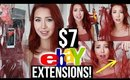TESTING $7 Hair Extensions I Bought From EBAY! *Disaster*
